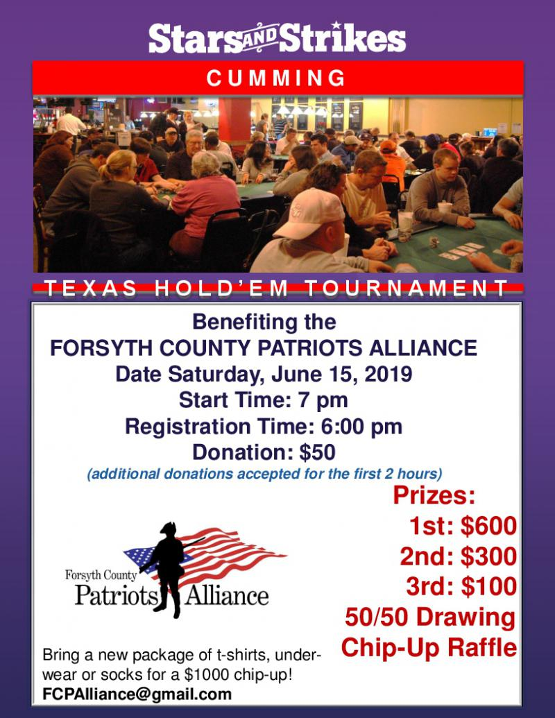 Forsyth County Patriots Alliance - Stars and Strikes at 5thstreetpoker.com