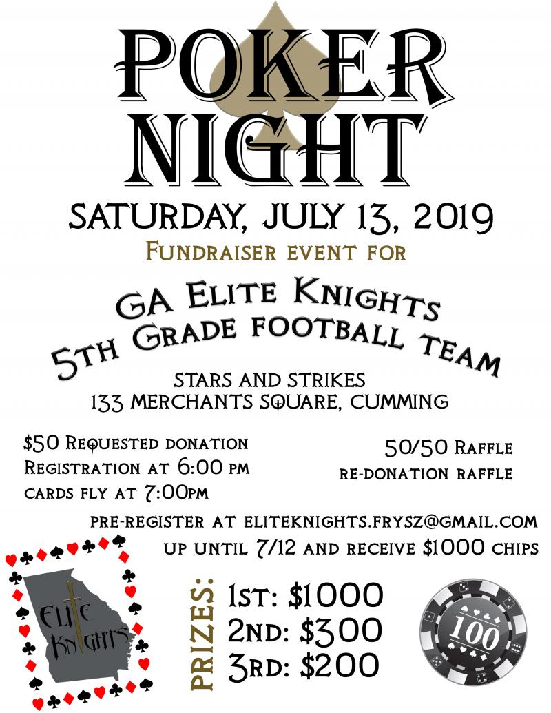 GA Elite Knights Football - Stars and Strikes at 5thstreetpoker.com