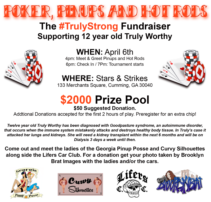 The #TrulyStrong Fundraiser - Stars and Strikes at 5thstreetpoker.com